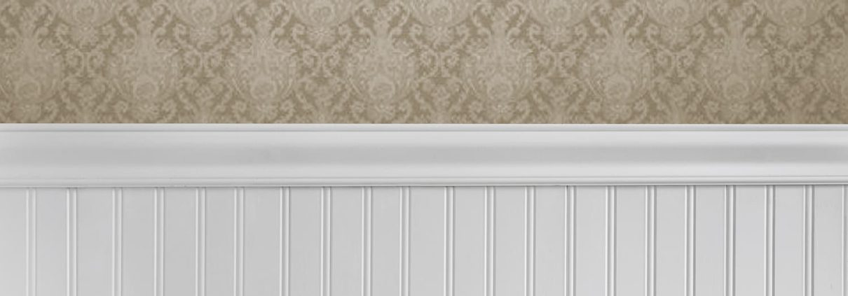 Colonial Wall Linings - Hallway - Special Grooved Beaded VJ Wall Panelling, Beaded VJ Sheets, Beaded VJ Sheeting, Beaded VJ Lining, Beaded VJ Panels, Beaded VJ Board, capped by Dodo Rail / Belt Rail