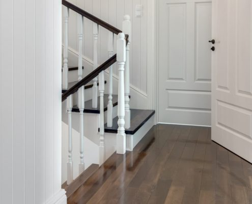 Colonial Wall Linings - Stairway Hallway - VJ Wall Panelling, VJ Sheets, VJ Sheeting, VJ Lining, VJ Panels, VJ Board, Skirt, Skirts, Skirting, Architrave, Architraves
